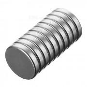 Rompecabezas circular del iman DIY del neodimio del ndfeb de 15 * 3m m - plata (10PCS)