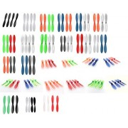 Yi Zhan X4 27 Sets of 4 [QTY: 1] Black Orange Propeller Blades Propellers Props [QTY: 1] Clear Transparent [QTY: 1] Blue and [QTY: 1] Red [QTY: 1] White [QTY: 1] H107D+-02 Plus Blade Set All Quadcopte