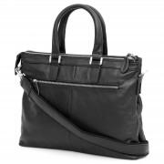Delton Bags Sac en cuir noir Delton Grab & Go Black