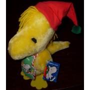 """Peanuts Snoopy Best Friend Woodstock Elf 9"""" Plush In Christmas Apron Santas Helper"""