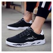 Zapatos Para Correr Fashion-Cool Para Hombre-Negro Y Blanco