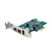 StarTech.com Tarjeta PCI Express 1.1 PEX1394B3LP, Alámbrico, con 3 Puertos FireWire