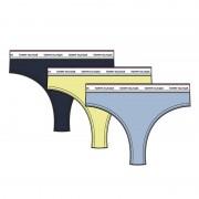 Tommy Hilfiger 3-pack dames strings - blauw/geel/navy