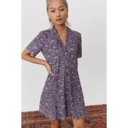 Urban Outfitters Archive - Robe liquette florale violette- taille: XS