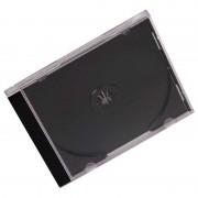 CD Jewel Case Black/Clear Pk 10
