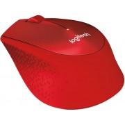 Miš Logitech Wireless M330 Silent Plus, optički, 1000dpi, bežični, crveni, USB