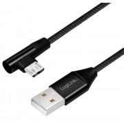 Cavo USB Micro-B Maschio Angolato/USB-A Maschio Dritto 1m Nero