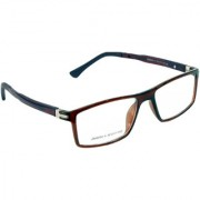 Redex Brown Rectangle Spectacle Frame (1600)