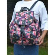 Oversize Denim Print Backpack