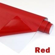 Folie colantare auto Carbon 3D - ROSU (1m x 1,27m)
