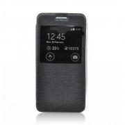 Ozzzo Étui Coque Housse S-View Flexi Avec Fenetre Noir Pour Blackberry Keyone