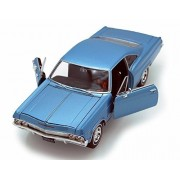 1965 Chevy Impala Ss396, Blue Welly 22417 1/24 Scale Diecast Model Toy Car