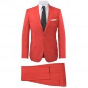 vidaXL Pánsky dvojdielny formálny oblek, červený, veľkosť 56