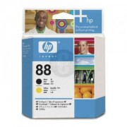 HP 88 Printhead Black and Yellow ( C9381A ) Ink Cartridge for Officejet Pro K550 Colour