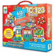 Learning Journey Puzzle Doubles - Giant Abc & 123 Train Floor Puzzles