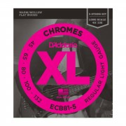 D'Addario - ECB81-5 45-132 Chromes 5-string Flatwound Stainless