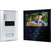 Smartwares Kabelový domovní video telefon Smartwares VD71Z SW VD71Z SW, hliník, černá