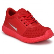 Shoe Rider Men's Red Mesh Sports Running Shoes