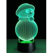 Rosegal Lumière de Nuit Colorée Touche en Forme de Bonhomme de Neige 3D de Noël
