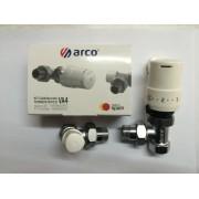 Pachet compus din robinet cu ventil termostatic , cap termostatic si robinet retur Arco