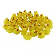 Stuffwholesale 1.5inch Sound Rubber Duck Baby Bath Toys, Rubber Bath Toy for Baby (20 Ducks)