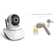 Zemini Wifi CCTV Camera and HBQ I7R Bluetooth Headset for SAMSUNG GALAXY ON 7(Wifi CCTV Camera with night vision |HBQ I7R Bluetooth Headset )