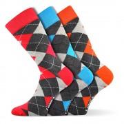 Woodoo MixF divatos zokni 3 pár egy csomagban