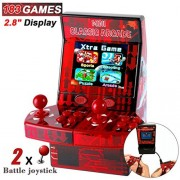 "Upgraded Kids Mini Arcade Retro Game Console Machine Classic Cabinet, 2 Battle Joystick Player + 2.8"" Display+ 183 Handheld Video, for Boys Adults Family Portable Toys Gift (2017 New ) by Symfury"