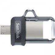 Памет SanDisk Ultra Dual Drive m3.0 - 64GB, SD-USB-DD3-064G-G46