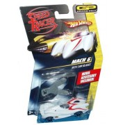 Hot Wheels Speed Racer Grand Prix 1:64 Scale Die Cast Car With Movie Accessory Mach 6 With Saw Blades