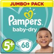 Pampers Baby Dry Luiers - maat 5+ - 68 stuks