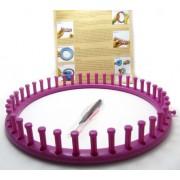 Telar para trapillo de plastico redondo de 29 cm de diametro