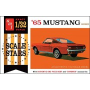 AMT 1042 1965 Ford Mustang Fastback 1:32 Scale Plastic Model Kit - Requires Assembly
