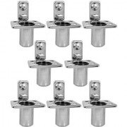 Doyours Stainless Steel Glossy Tumbler Holder - Set of 8 (Square series)