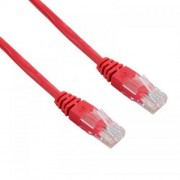 Cablu UTP 4World Patch cord neecranat Cat 5e 3m Rosu