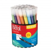 Berol Colourfine Fibre Tipped Pens (Tub of 42)