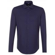 Seidensticker Overhemd Subtle Fantasy Contrast Blauw / male