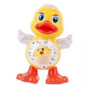 Mahvi Toys Cute Dancing Duck With Flashing Lights ,Music And Dance Action For Kids (Multicolor)