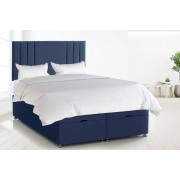 Serene Living From £369 (from Serenity Designs) for Rio III plush velvet ottoman divan bed and mattress - choose from eight colours and five sizes!