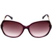 ADEN&TERRY Over-sized Sunglasses(Violet)