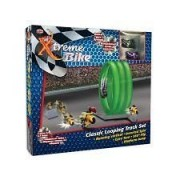 XTREME BIKE MOTORCYCLE TRACK SET with Built-in Gyro Flywheel: Comes with 2 Bikes 3.5 Loops 3 Ramps