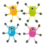 Baker Ross Monster Wall Crawler - 6 Wall Crawlers . Size 6 cm. Ideal gift for a party bag.