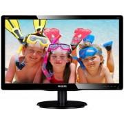 "Monitor LED Philips 19.5"" 200V4LAB2/00, HD+ (1600 x 900), VGA, DVI, 5 ms, Boxe (Negru)"