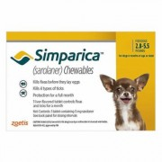 Simparica Chewables For Dogs 2.8-5.5 Lbs (Yellow) 6 Pack