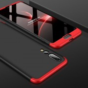GKK for Huawei P20 Pro PC 360 Degrees Full Coverage Protective Case Back Cover (Black+Red)