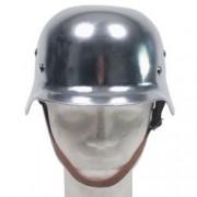 MAX FUCHS Helma ocelová WWII s koženým vnitřkem CHROM