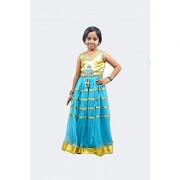 KIDZ GIRLS ETHNIC GOWNS FOR AGE OF 5 TO 12 YEARS AND ABOVE(SKY BLUE)