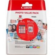 CANON CLI-581XL BK/C/M/Y PHOTO VALUE BL - Blister multipack serbatoi inchiostro ciano, magenta, giallo, nero + carta fotografica.Formato Standard. Contenuto: 8,3 ml x 4. Compatibile con PIXMA Serie TS9150, Serie TS8150, Serie TS6150, TR7550, TR8550