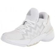 Adidas D.o.n. Issue 2 Zapatillas de Corte para Interiores, Blanco/Negro/Tinte Cielo, 6.5 US