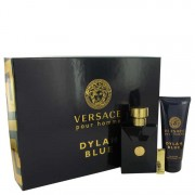 Versace Pour Homme Dylan Blue Eau De Toilette Spray 3.4 oz / 100.55 mL + Shower Gel 3.4 oz / 100.55 mL + Money Clip Gift Set Men